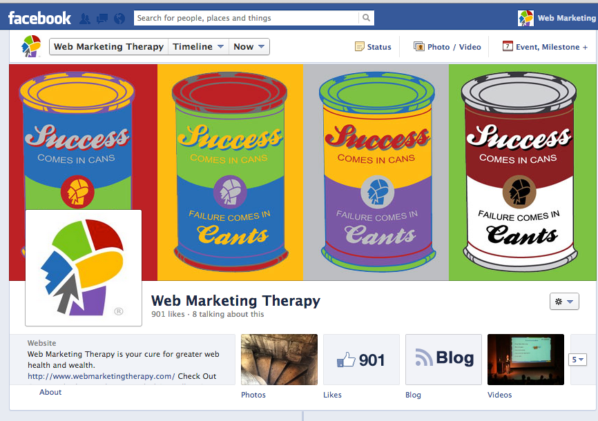 Web Marketing Therapy Facebook Page