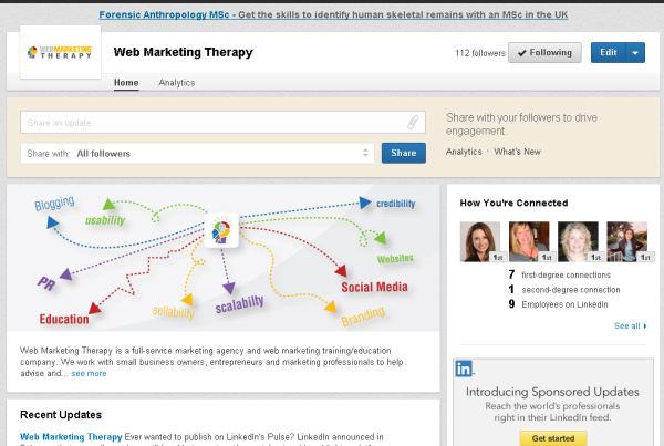 Web Marketing Therapy LinkedIn