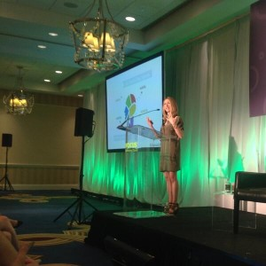 Lorrie Thomas Ross speaking at Vocus Marketing & PR Conference