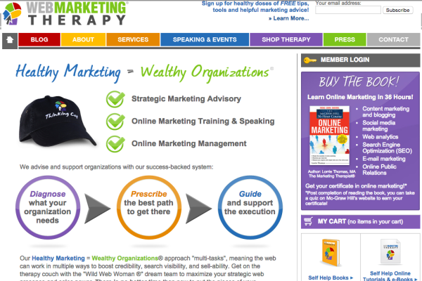 Web Marketing Therapy circa 2009 - 2013