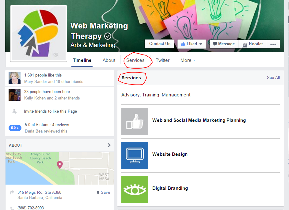 The feature is not available for all facebook business pages