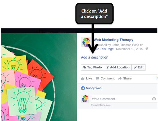 Web Marketing Tip: Adding a Facebook Cover Image Link
