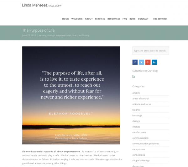 Quotes for Content - Linda Menesez